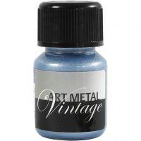 Hobbyverf metallic, Parelmoer blauw, 30 ml/ 1 fles