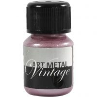 Hobbyverf metallic, Parelmoer rood, 30 ml/ 1 fles