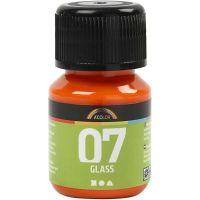 A-Color Glass, oranje, 30 ml/ 1 fles