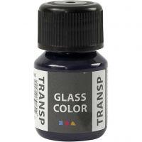 Glass Color Transparent, marineblauw, 30 ml/ 1 fles