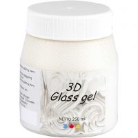 3D Glass Gel, ivoor, 250 ml/ 1 Doosje