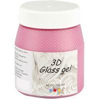 3D Glass Gel, roze, 250 ml/ 1 Doosje