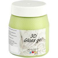 3D Glass Gel, lichtgroen, 250 ml/ 1 Doosje