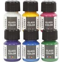 Glass Color Frost, diverse kleuren, 6x30 ml/ 1 doos