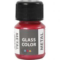 Glass Color Metal, rood, 30 ml/ 1 fles