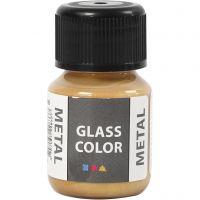 Glass Color Metal, goud, 30 ml/ 1 fles