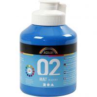 School acrylverf mat, matt, primair blauw, 500 ml/ 1 fles