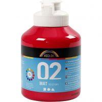School acrylverf mat, matt, primair rood, 500 ml/ 1 fles