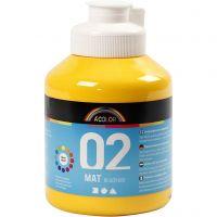 School acrylverf mat, matt, geel, 500 ml/ 1 fles