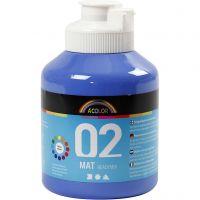 School acrylverf mat, matt, blauw, 500 ml/ 1 fles
