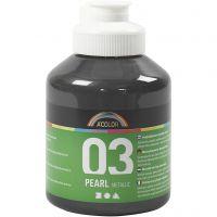 School acrylverf metallic, metallic, zwart, 500 ml/ 1 fles