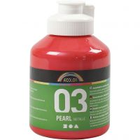 School acrylverf metallic, metallic, rood, 500 ml/ 1 fles