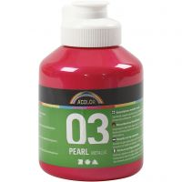 School acrylverf metallic, metallic, roze, 500 ml/ 1 fles