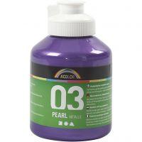 School acrylverf metallic, metallic, violet, 500 ml/ 1 fles