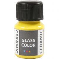 Glas Keramiek verf, citroengeel, 35 ml/ 1 fles