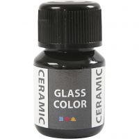 Glas Keramiek verf, zwart, 35 ml/ 1 fles