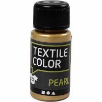 Textile Color, parelmoer, goud, 50 ml/ 1 fles