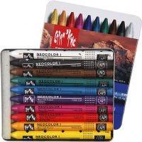 Neocolor I, L: 10 cm, dikte 8 mm, diverse kleuren, 10 stuk/ 1 doos