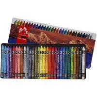 Neocolor I, L: 10 cm, dikte 8 mm, diverse kleuren, 30 stuk/ 1 doos