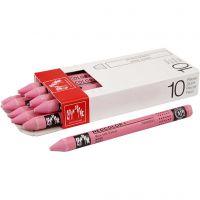 Neocolor I, L: 10 cm, dikte 8 mm, pink (081), 10 stuk/ 1 doos