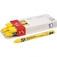 Neocolor I, L: 10 cm, dikte 8 mm, yellow (010), 10 stuk/ 1 doos