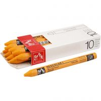 Neocolor I, L: 10 cm, dikte 8 mm, orange (030), 10 stuk/ 1 doos
