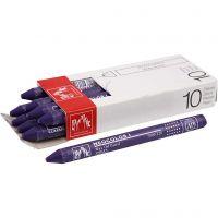 Neocolor I, L: 10 cm, dikte 8 mm, violet (120), 10 stuk/ 1 doos