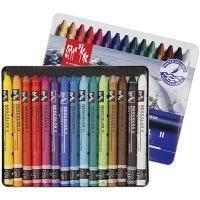 Neocolor II, L: 10 cm, diverse kleuren, 15 stuk/ 1 doos