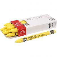 Neocolor II, L: 10 cm, yellow (010), 10 stuk/ 1 doos