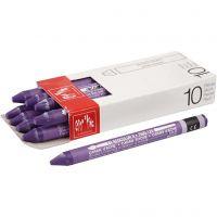 Neocolor II, L: 10 cm, violet (120), 10 stuk/ 1 doos