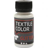 Textile Color, glitter, transparant, 50 ml/ 1 fles