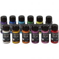 Textile Color, dekkend, diverse kleuren, 12x50 ml/ 1 doos
