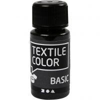 Textile Color, zwart, 50 ml/ 1 fles