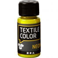 Textile Color, neon geel, 50 ml/ 1 fles