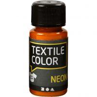 Textile Color, neon oranje, 50 ml/ 1 fles