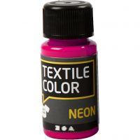 Textile Color, neon roze, 50 ml/ 1 fles