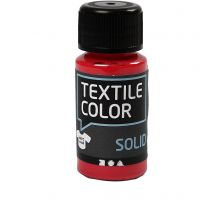 Textile Color, dekkend, rood, 50 ml/ 1 fles