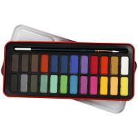 Aquarelverf set, afm 12x30 mm, diverse kleuren, 24 kleur/ 1 doos