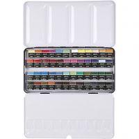 Art Aqua aquarelverf, ½-pan, afm 10x20 mm, diverse kleuren, 48 kleur/ 1 doos