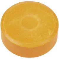 Waterverf, H: 16 mm, d: 44 mm, oranje, 6 stuk/ 1 doos