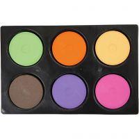 Waterverf, H: 16 mm, d: 44 mm, extra kleuren, 1 set