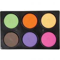 Waterverf, H: 19 mm, d: 57 mm, extra kleuren, 1 set