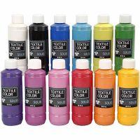 Textile Color, dekkend, diverse kleuren, 12x250 ml/ 1 doos