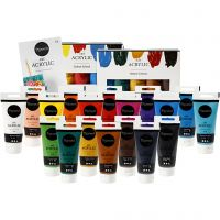 Retailverpakking - Pigment Art acrylverf en folder, 1 set