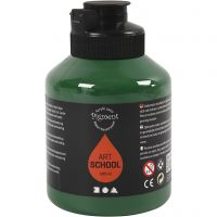 Pigment Art School, semi-transparant, donkergroen, 500 ml/ 1 fles