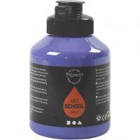 Pigment Art School, semi-transparant, violet blue, 500 ml/ 1 fles