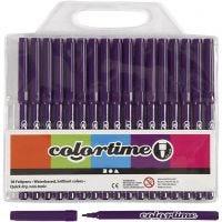 Colortime stift, lijndikte 2 mm, paars, 18 stuk/ 1 doos