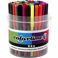 Colortime stift, lijndikte 2 mm, diverse kleuren, 100 stuk/ 1 emmer