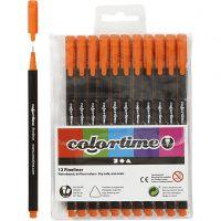 Colortime Fineliner , lijndikte 0,6-0,7 mm, oranje, 12 stuk/ 1 doos