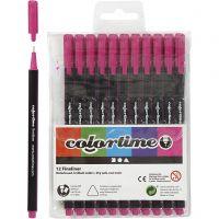 Colortime Fineliner , lijndikte 0,6-0,7 mm, cyclaam, 12 stuk/ 1 doos